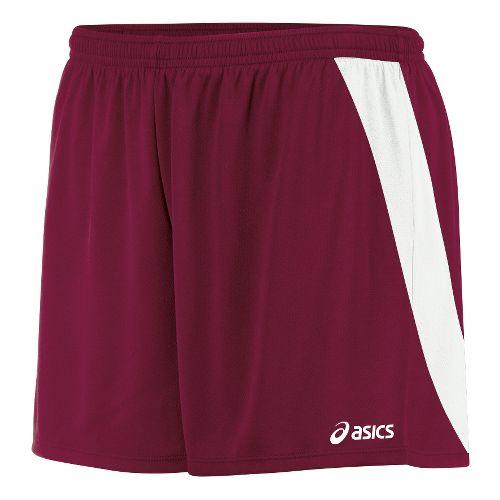 Womens ASICS Break Through Unlined Shorts - Cardinal/White L
