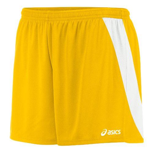 Womens ASICS Break Through Unlined Shorts - Gold/White XL