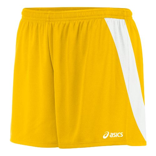 Womens ASICS Break Through Unlined Shorts - Gold/White XS