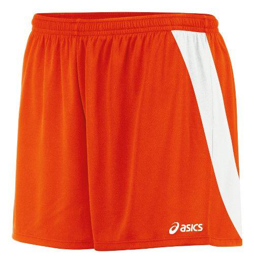 Womens ASICS Break Through Unlined Shorts - Orange/White S