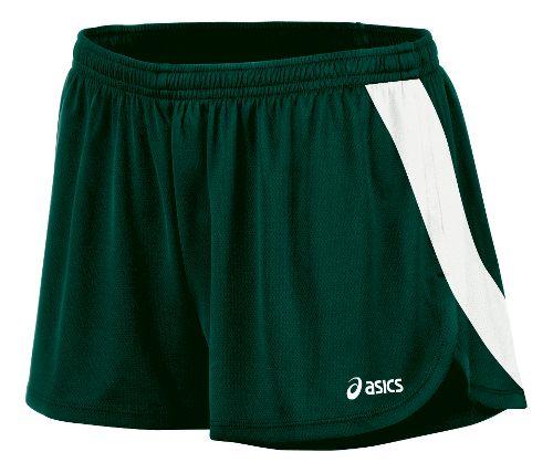 Womens ASICS Break Through 1/2 Split Shorts - Forest/White M