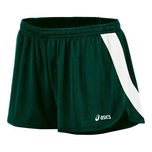 Womens ASICS Break Through 1/2 Split Shorts - Forest/White XS