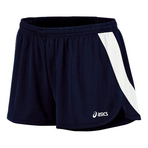 Womens ASICS Break Through 1/2 Split Shorts - Navy/White M