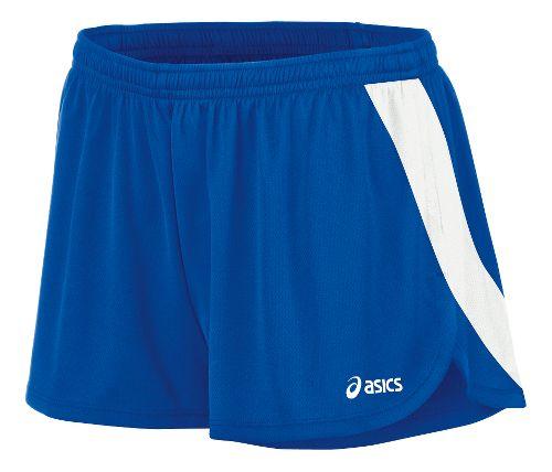 Womens ASICS Break Through 1/2 Split Shorts - Royal/White XS