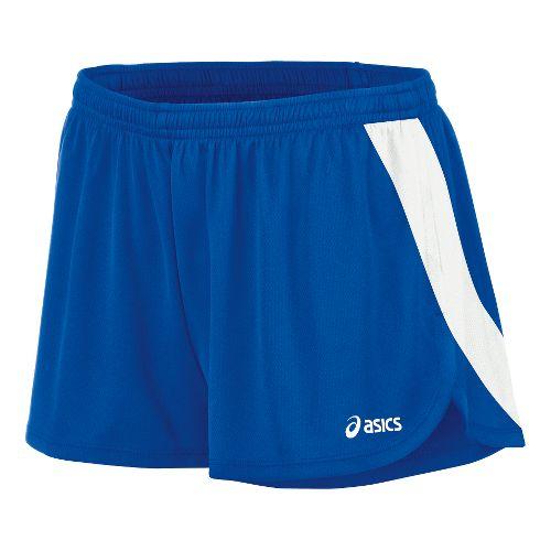 Womens ASICS Break Through 1/2 Split Shorts - Royal/White M