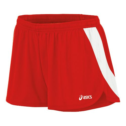 Womens ASICS Break Through 1/2 Split Shorts - Red/White M