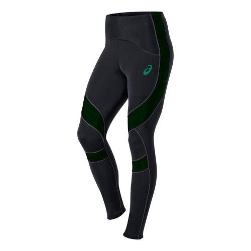 Mens ASICS Leg Balance Full Length Tights - Black/Green L