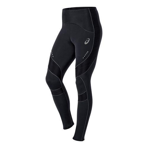 Mens ASICS Leg Balance Full Length Tights - Black/Green XL