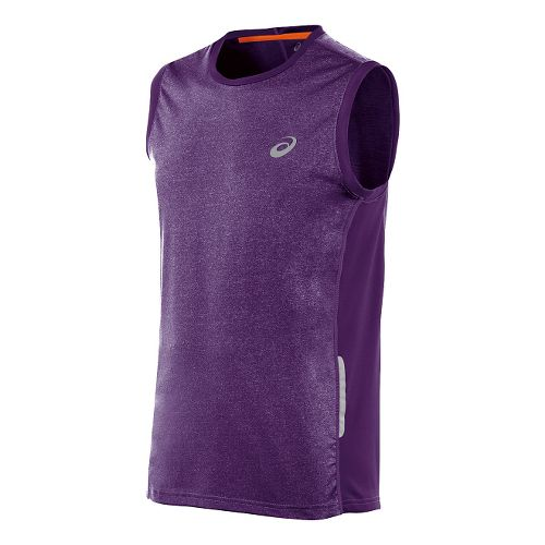 Mens ASICS FujiTrail Sleeveless Technical Tops - Purple Acai L