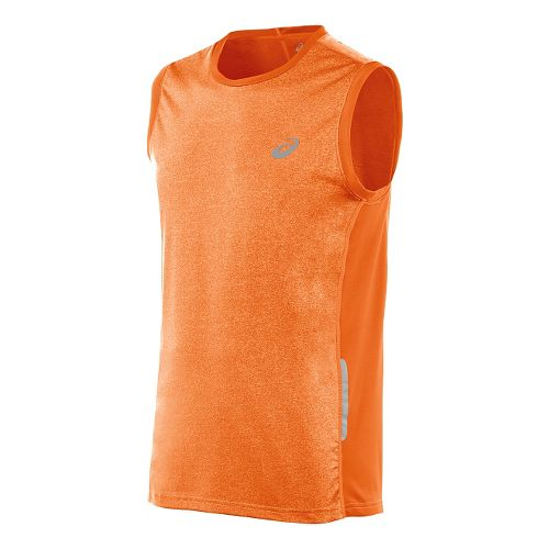 Mens ASICS FujiTrail Sleeveless Technical Tops - Shocking Orange S