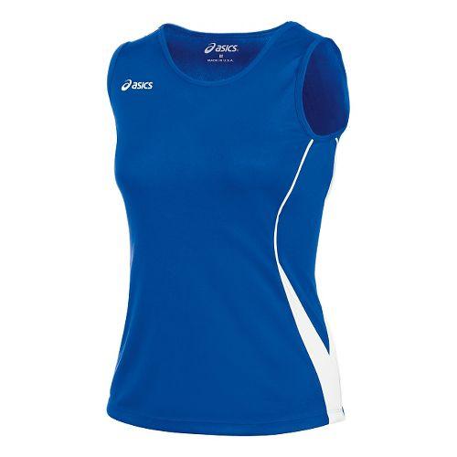 Womens ASICS Baseline Jersey Sleeveless Technical Tops - Royal/White M