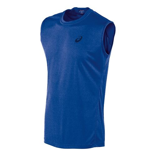 Mens ASICS Train Sleeveless Technical Tops - Air Force Blue S