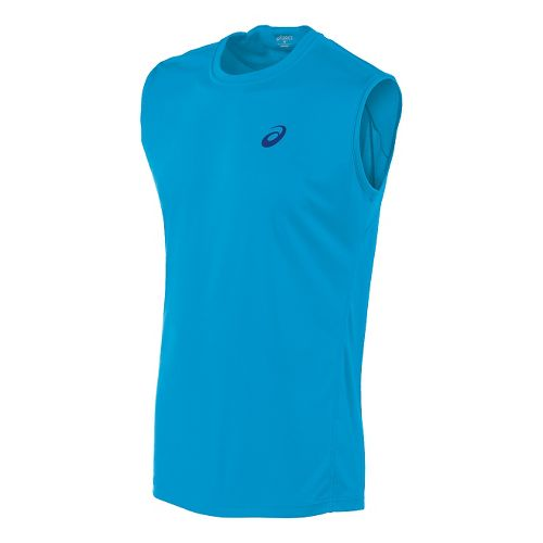 Mens ASICS Train Sleeveless Technical Tops - Atomic Blue L