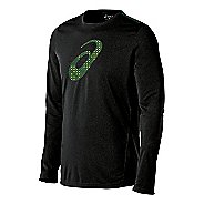Mens ASICS Train Graphic Tee Long Sleeve No Zip Technical Tops