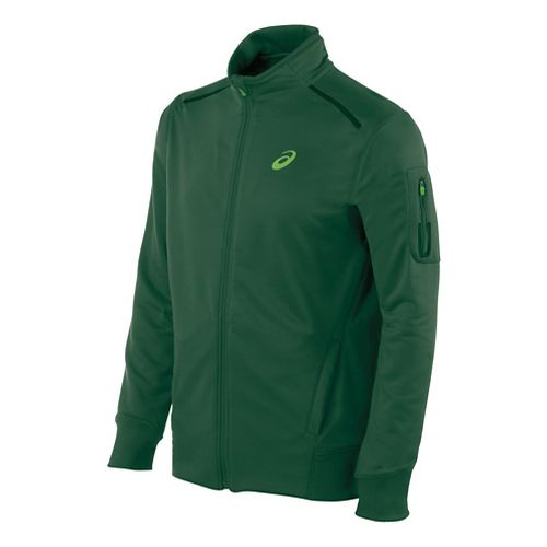 Mens ASICS Track Lightweight Jackets - Oak Green S