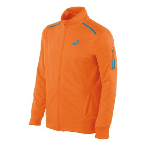 Mens ASICS Track Lightweight Jackets - Shocking Orange M