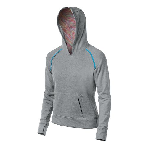 Womens ASICS Coral Warm Up Hooded Jackets - Heather Grey S