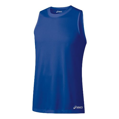 Mens ASICS Ready-Set Singlet Sleeveless & Tank Technical Tops - Air Force Blue L