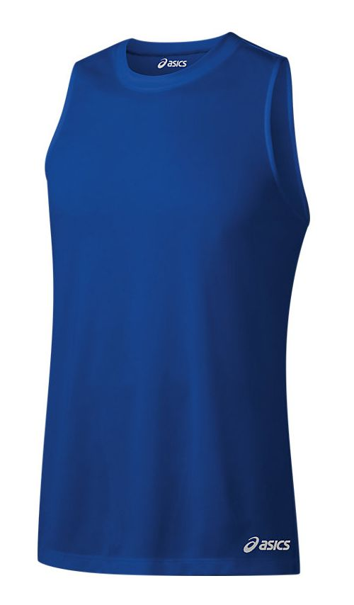 Mens ASICS Ready-Set Singlet Sleeveless & Tank Tops Technical Tops - New Blue XXS