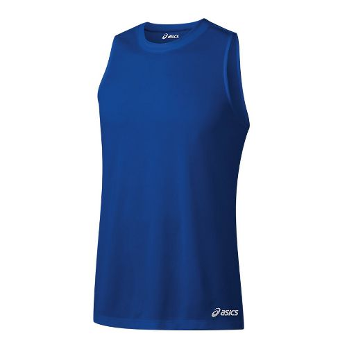 Mens ASICS Ready-Set Singlet Sleeveless & Tank Tops Technical Tops - New Blue M
