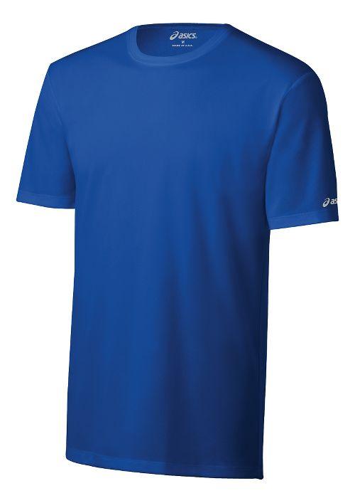 Mens ASICS Ready-Set Short Sleeve Technical Tops - New Blue XS
