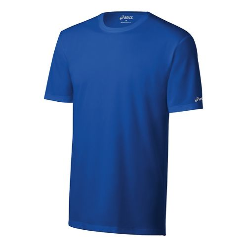 Mens ASICS Ready-Set Short Sleeve Technical Tops - New Blue XS