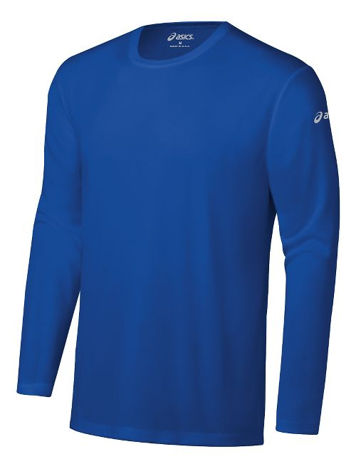 Mens ASICS Ready-Set Long Sleeve Technical Tops - New Blue XXS