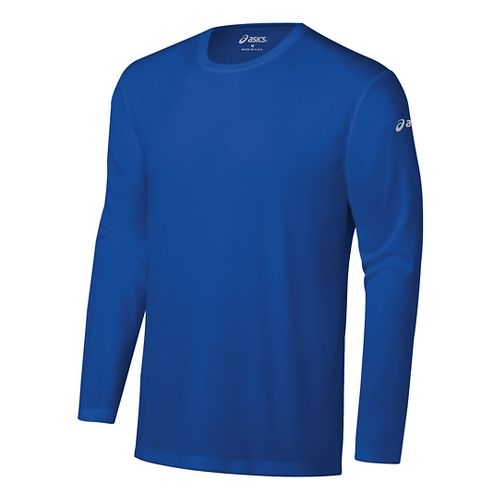 Mens ASICS Ready-Set Long Sleeve Technical Tops - New Blue S
