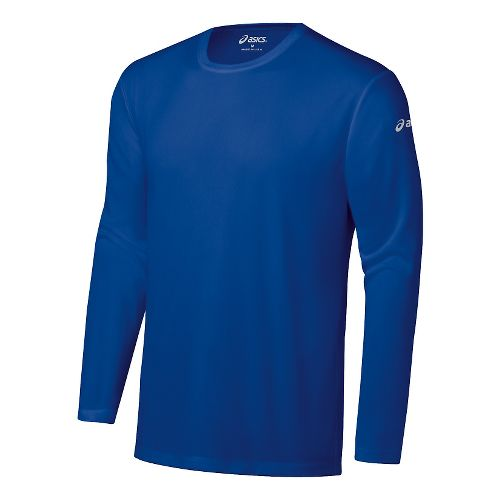 Mens ASICS Ready-Set Long Sleeve No Zip Technical Tops - Air Force Blue M