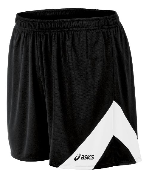 Mens ASICS Break Through Lined Shorts - Black/White M