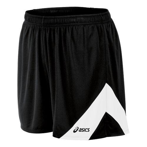 Mens ASICS Break Through Lined Shorts - Black/White M