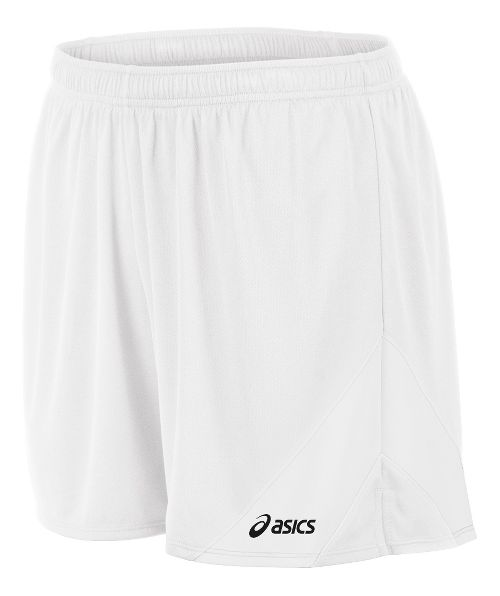 Mens ASICS Break Through Lined Shorts - White/White XXL