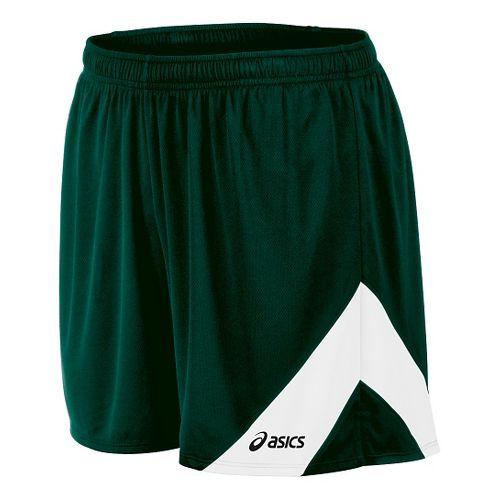 Mens ASICS Break Through Lined Shorts - Forest/White S