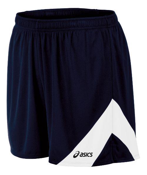 Mens ASICS Break Through Lined Shorts - Navy/White S