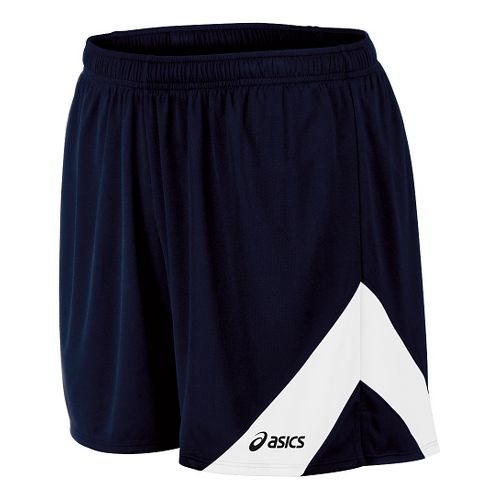 Mens ASICS Break Through Lined Shorts - Navy/White XL