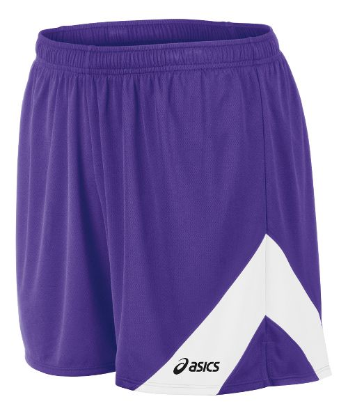 Mens ASICS Break Through Lined Shorts - Purple/White S