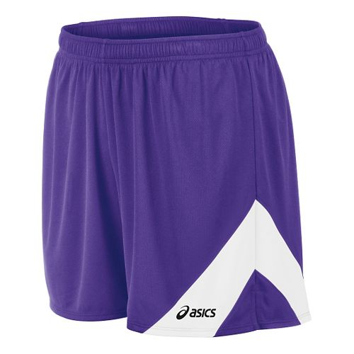 Mens ASICS Break Through Lined Shorts - Purple/White S