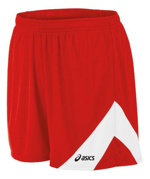 Mens ASICS Break Through Lined Shorts - Red/White 3XL