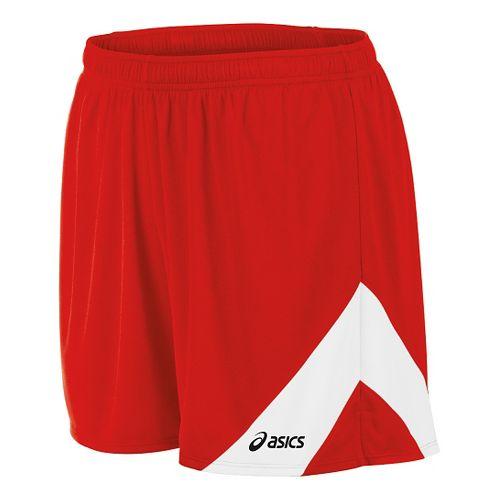 Mens ASICS Break Through Lined Shorts - Red/White S