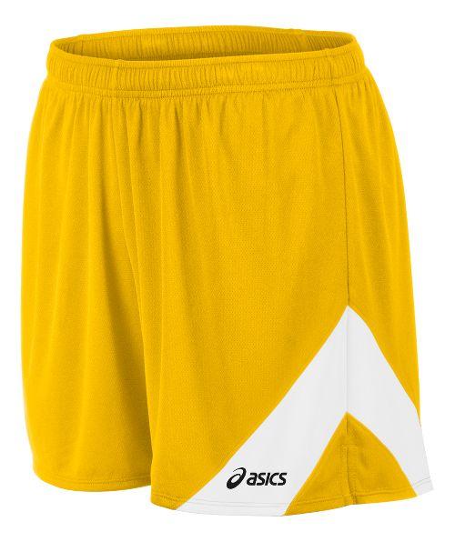 Mens ASICS Break Through Lined Shorts - Gold/White 3XL