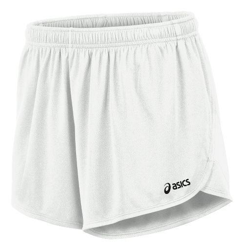 Mens ASICS Break Through 1/2 Split Lined Shorts - White/White L