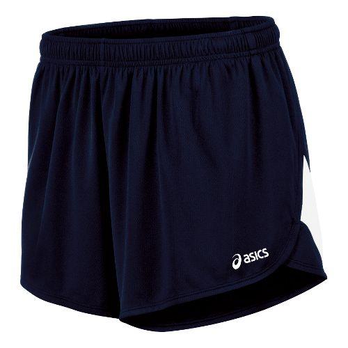 Mens ASICS Break Through 1/2 Split Lined Shorts - Navy/White L