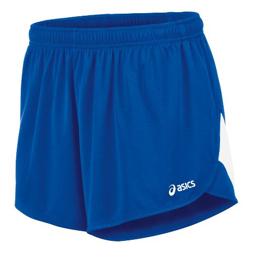 Mens ASICS Break Through 1/2 Split Lined Shorts - Royal/White XL