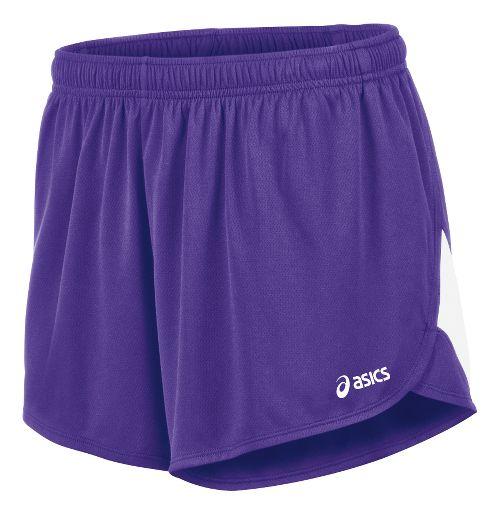 Mens ASICS Break Through 1/2 Split Lined Shorts - Purple/White L
