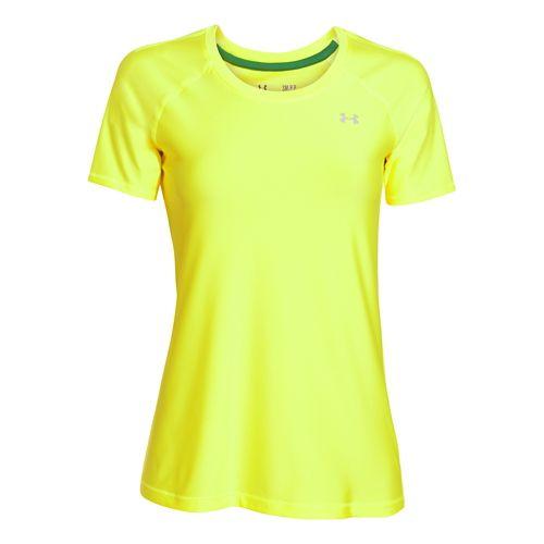 Womens Under Armour HeatGear Alpha Short Sleeve Technical Tops - X-Ray XS