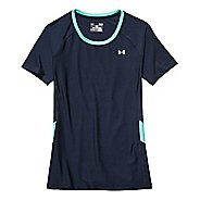 Womens Under Armour HeatGear Alpha Novelty Short Sleeve Technical Tops