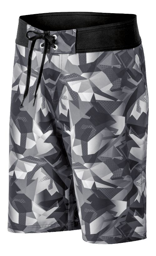 Mens ASICS Pierside Boardshort Swim - Graphite/Black 32