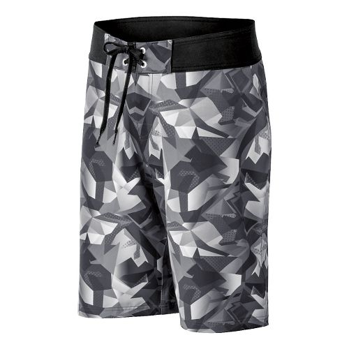Mens ASICS Pierside Boardshort Swim - Graphite/Black 34