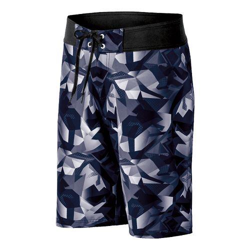 Mens ASICS Pierside Boardshort Swim - Navy/Black 34