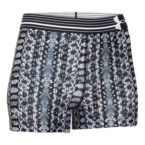 Womens Under Armour HeatGear Alpha Compression Printed Unlined Shorts - Black/White M